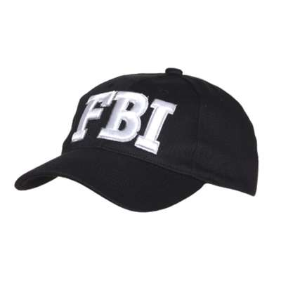 ČEPICE BASEBALL FBI ČERNÁ